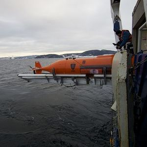 Submarine searches for plane