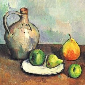 Cezanne elevated still life using an apple