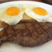 Steak and eggs.square