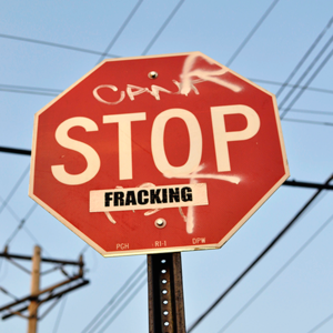 Fracking sign.square