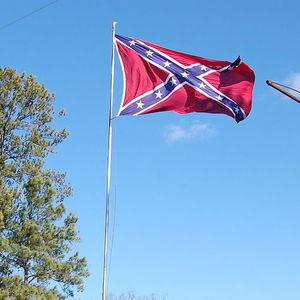 Confederate flag square