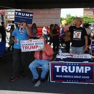 Trump supporters at bellingham pride festival   bellingham  washington