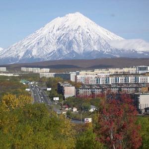 Koryaksky volcano petropavlovsk kamchatsky oct 2005