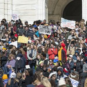 A gun protest