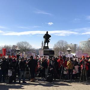 Teeachers on strike