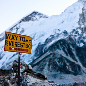 Mt everest sign