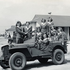 Me and my girls in a jeep