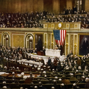 President woodrow wilson asking congress to declare war on germany  2 april 1917