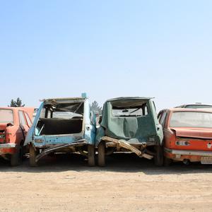 Shredding cars