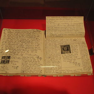 Anne frank diary at anne frank museum in berlin pages 92 93